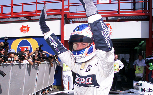 © Button during his time as a race driver with Williams in 2000