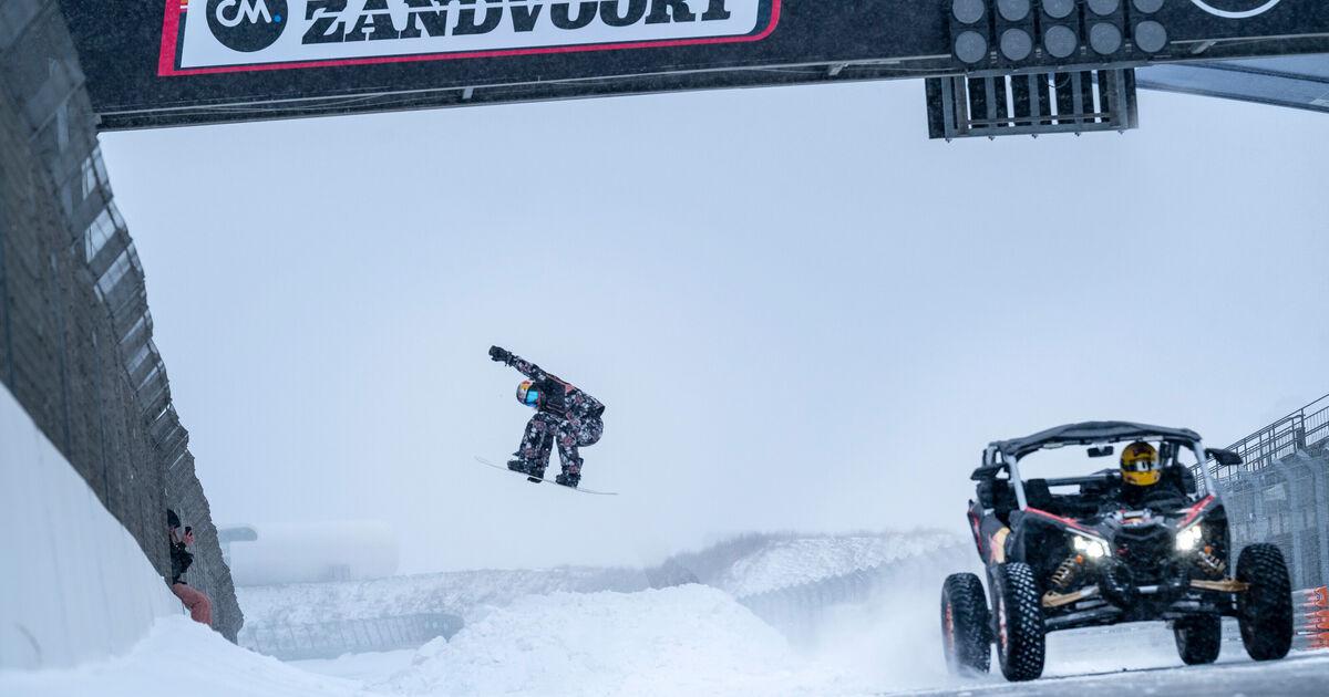 Video: Doornbos en snowboardster Peperkamp stunten op besneeuwd Circuit Zandvoort - Racingnews365