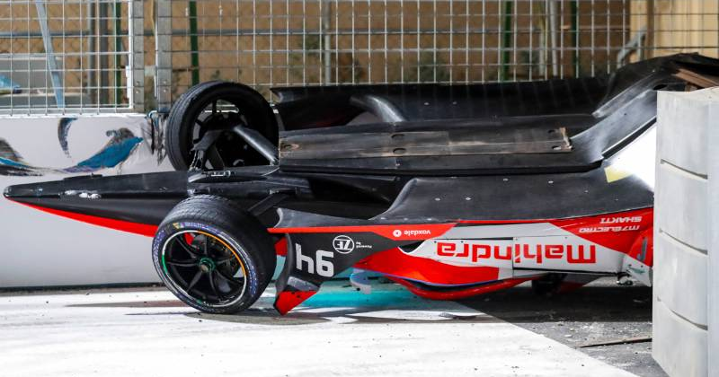 Video: Formule E-race vroegtijdig beëindigd na harde crash - Racingnews365