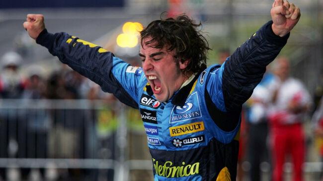 © Formula 1 | Alonso na het winnen van het Formule 1-WK in 2005