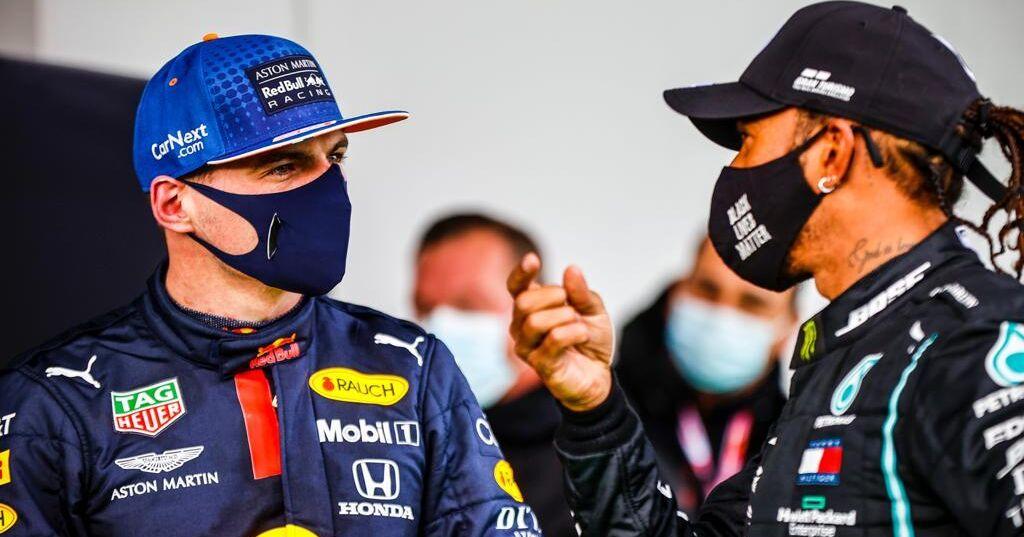 Rivalen Verstappen en Hamilton in eerste echte persconferentie - Racingnews365