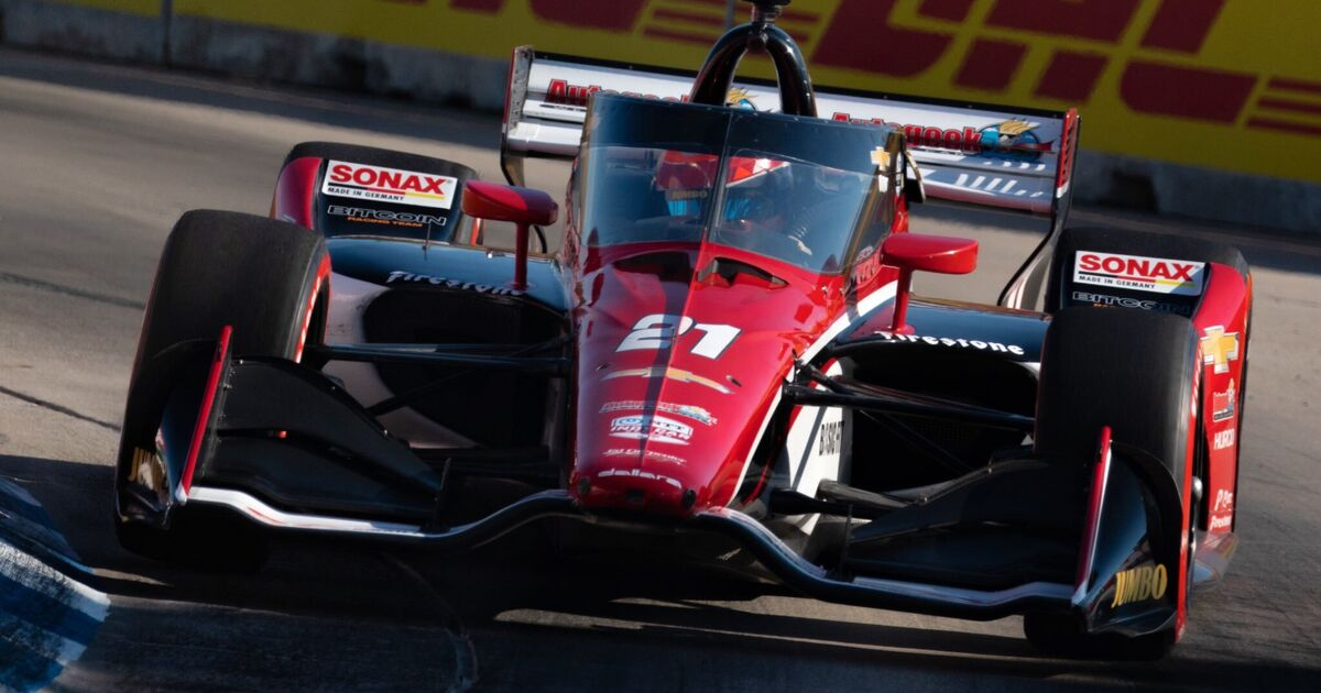 Veekay rewards strong IndyCar race with podium in Detroit