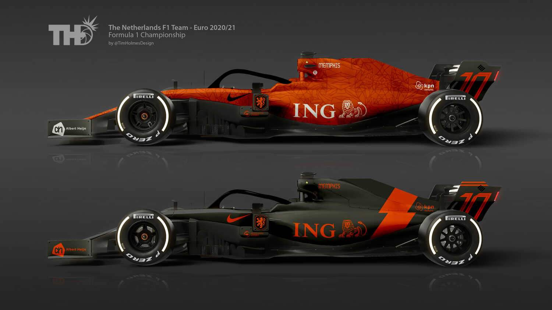 Zo zou de Formule 1-auto van het Nederlands elftal eruit zien |  RacingNews365