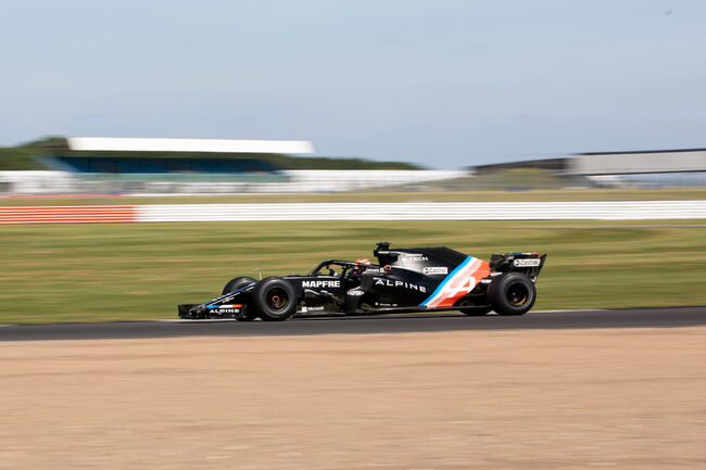 © Lundgaard tested for Alpine at Silverstone earlier this week