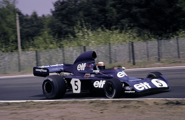 © Jackie Stewart in de Tyrrell 005, 1973