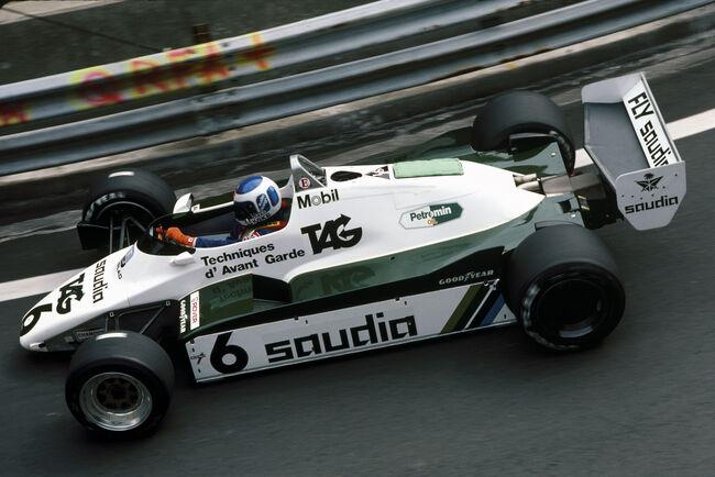 © Williams       Rosberg in Monaco in 1982.